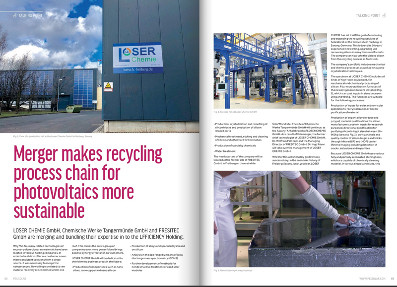 Loser Chemie GmbH in PES SOLAR Magazin